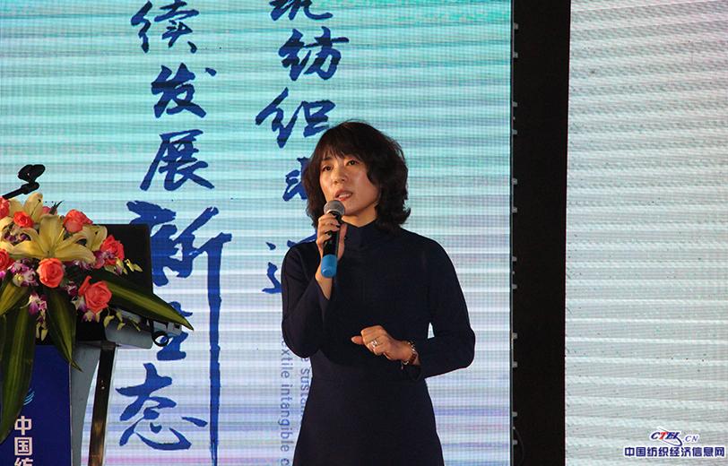 杭州新天地文旅集团总裁林瑾讲述《文渊狮城非遗传承与创新实践探索》