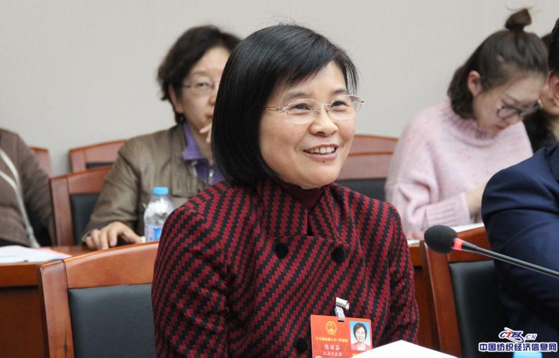 全国人大代表,江苏阳光集团董事长陈丽芬