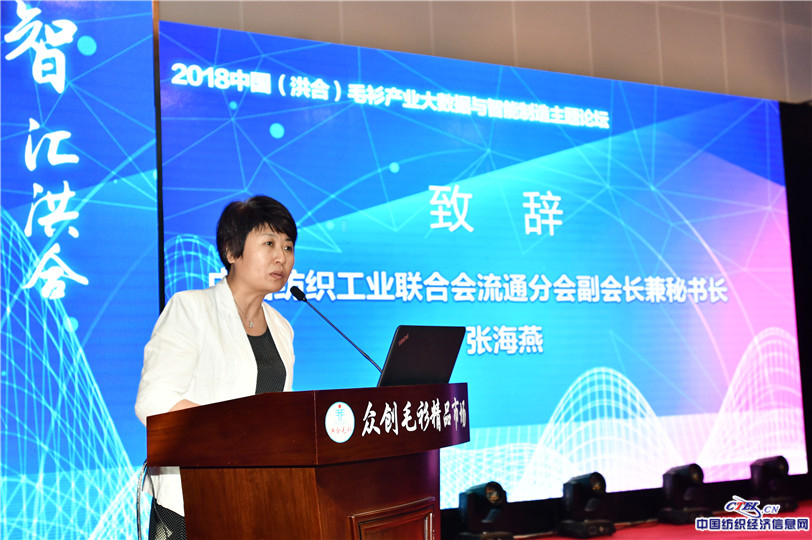 中国纺织工业联合会流通分会副会长兼秘书长张海燕致辞